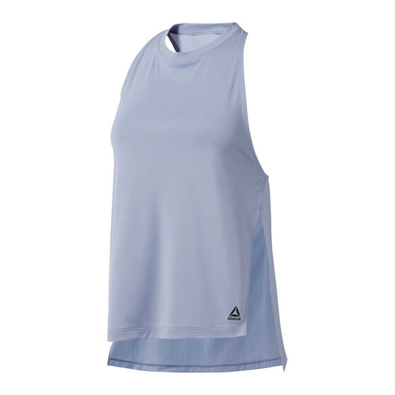 Reebok Womens WOR Meet You There Tank, Blue, rebel_hi-res