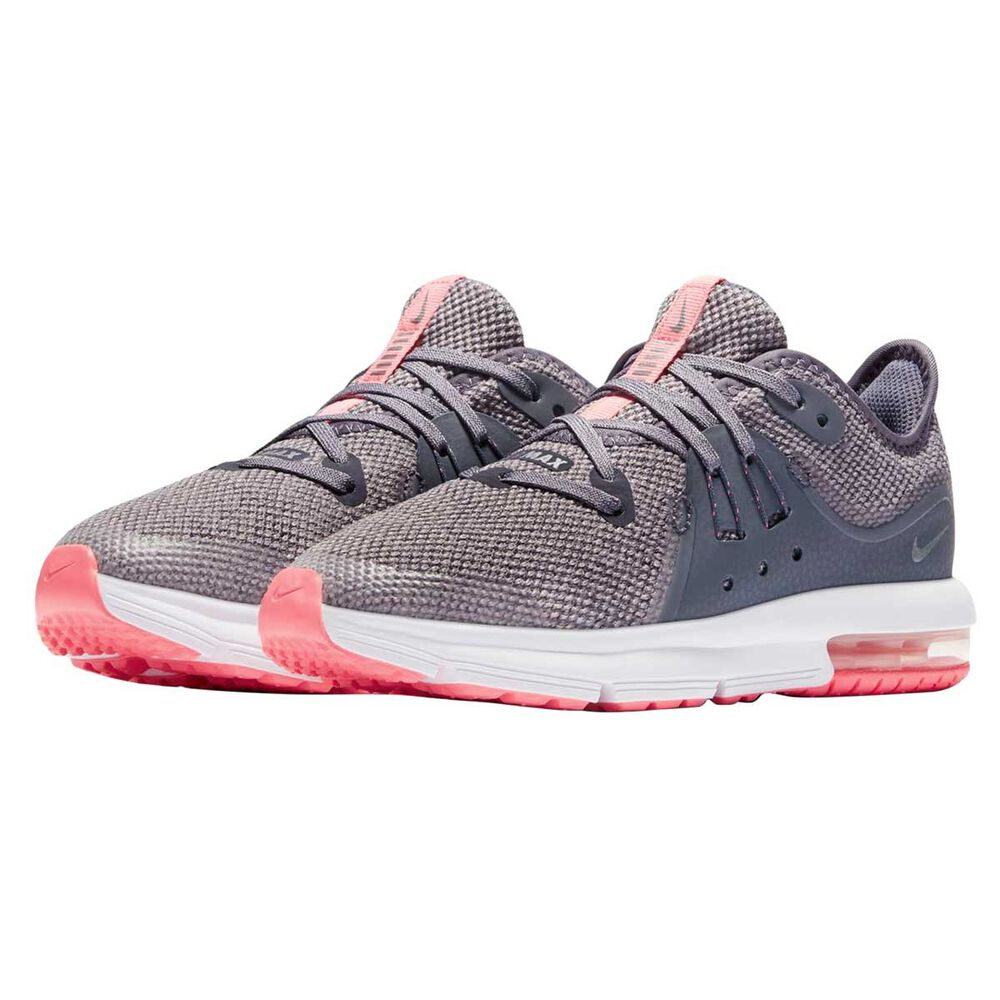 7cc1655976 Nike Air Max Sequent 3 Junior Girls Running Shoes Carbon / Grey US 2, Carbon