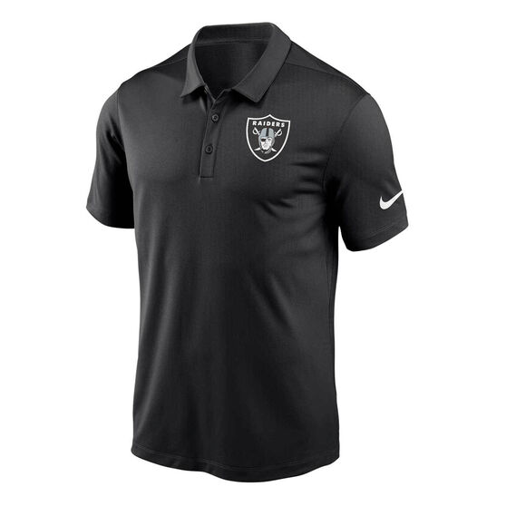 Oakland Raiders 2020 Mens Logo Essential Polo Black S, Black, rebel_hi-res