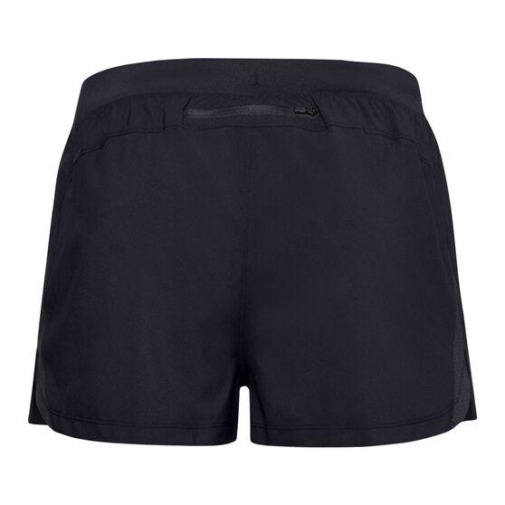 Under Armour Mens Launch Split Shorts, Black, rebel_hi-res