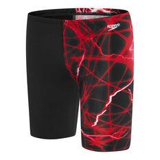 Speedo Boys School Colours Jammer Swim Shorts Red 6, Red, rebel_hi-res