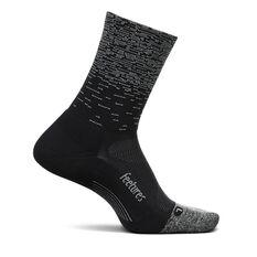 Feetures Elite Light Mini Crew Socks Black M, Black, rebel_hi-res
