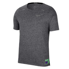 Nike Mens Dri-FIT Rise 365 Future Fast Running Tee Grey S, Grey, rebel_hi-res