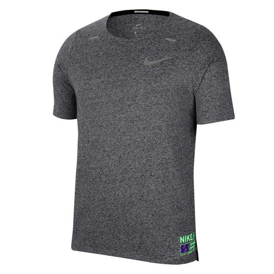 Nike Mens Dri-FIT Rise 365 Future Fast Running Tee Grey S, Grey, rebel_hi-res
