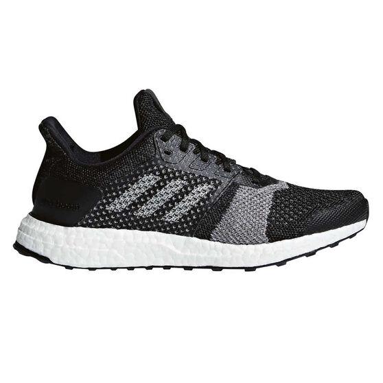 adidas Ultraboost ST Womens Running Shoes, Black / Grey, rebel_hi-res