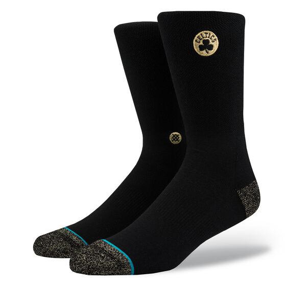 Stance Mens Boston Celtics Trophy Socks Black M, Black, rebel_hi-res