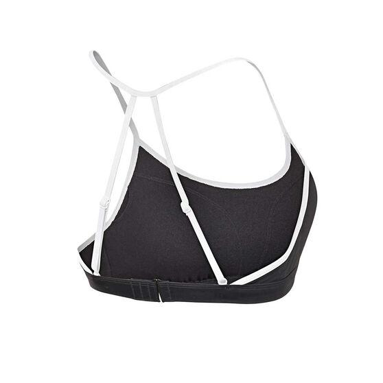 Roxy Womens Fitness SD Sports Bra, Black / White, rebel_hi-res