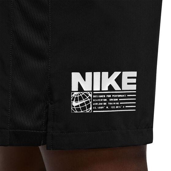 Nike Mens Flex Graphic Shorts, Black, rebel_hi-res