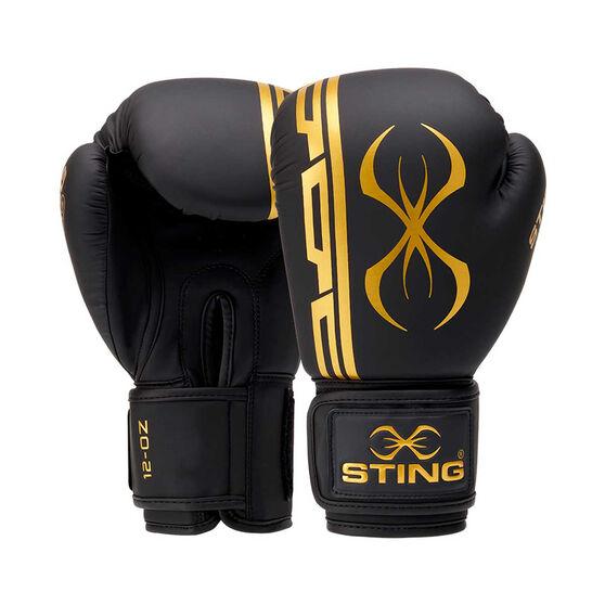 Sting Armaplus Boxing Gloves, Black / Gold, rebel_hi-res
