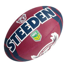 Steeden NRL Manly Warringah Sea Eagles Supporter Rugby League Ball, , rebel_hi-res
