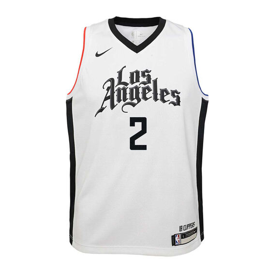 Nike Los Angeles Clippers Kawhi Leonard 2019/20 Youth City Edition Jersey, White, rebel_hi-res