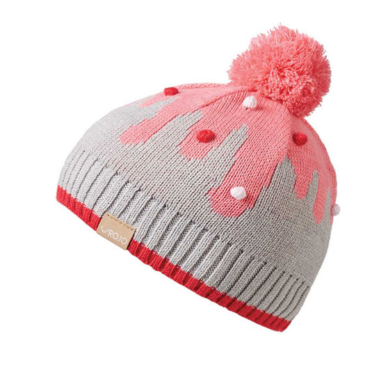 Rojo Girls Cake Pop Beanie Pink OSFA, , rebel_hi-res