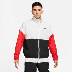 Nike Mens Basketball Jacket White S, White, rebel_hi-res