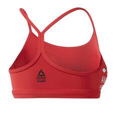 Reebok Womens CrossFit Skinny Sports Bra Red XS, Red, rebel_hi-res