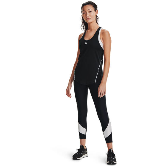 Under Armour Womens HeatGear Armour Taped Ankle Tights, Black, rebel_hi-res