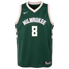 Nike Milwaukee Bucks Matthew Dellavedova Icon 2019 Kids Swingman Jersey Green S, Green, rebel_hi-res