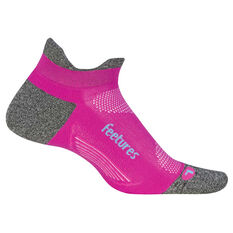 Feetures Elite Cushion No Show Tab Socks Fuschia S, Fuschia, rebel_hi-res