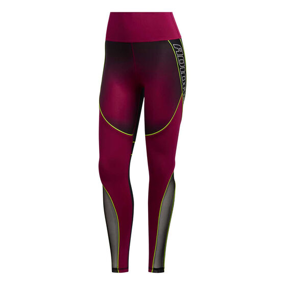 adidas Womens Believe This Sport Hack 7/8 Tights, Purple, rebel_hi-res