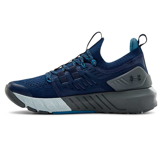 Under Armour Project Rock 3 Kids Training Shoes, Navy/Blue, rebel_hi-res