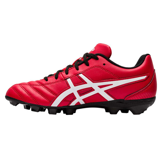 Asics Lethal Flash IT Kids Football Boots, Red / White, rebel_hi-res