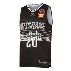 Brisbane Bullters Nathan Sobey City Edition 2019/20 Mens Jersey Black S, Black, rebel_hi-res