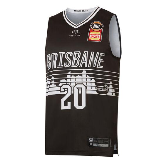 Brisbane Bullters Nathan Sobey City Edition 2019/20 Mens Jersey, Black, rebel_hi-res