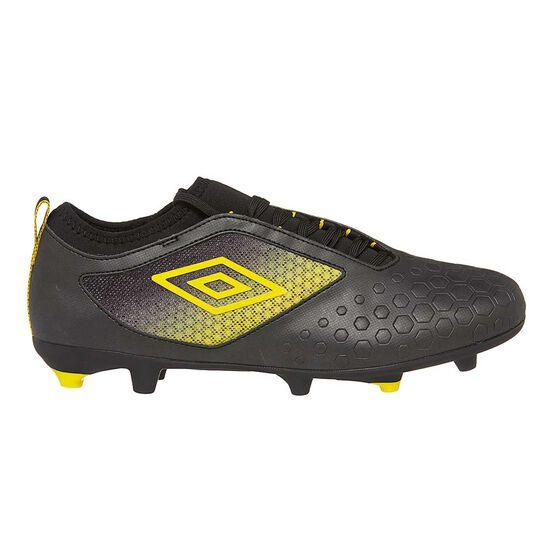 Umbro UX Accuro II Premier Mens Football Boots, Black / Yellow, rebel_hi-res