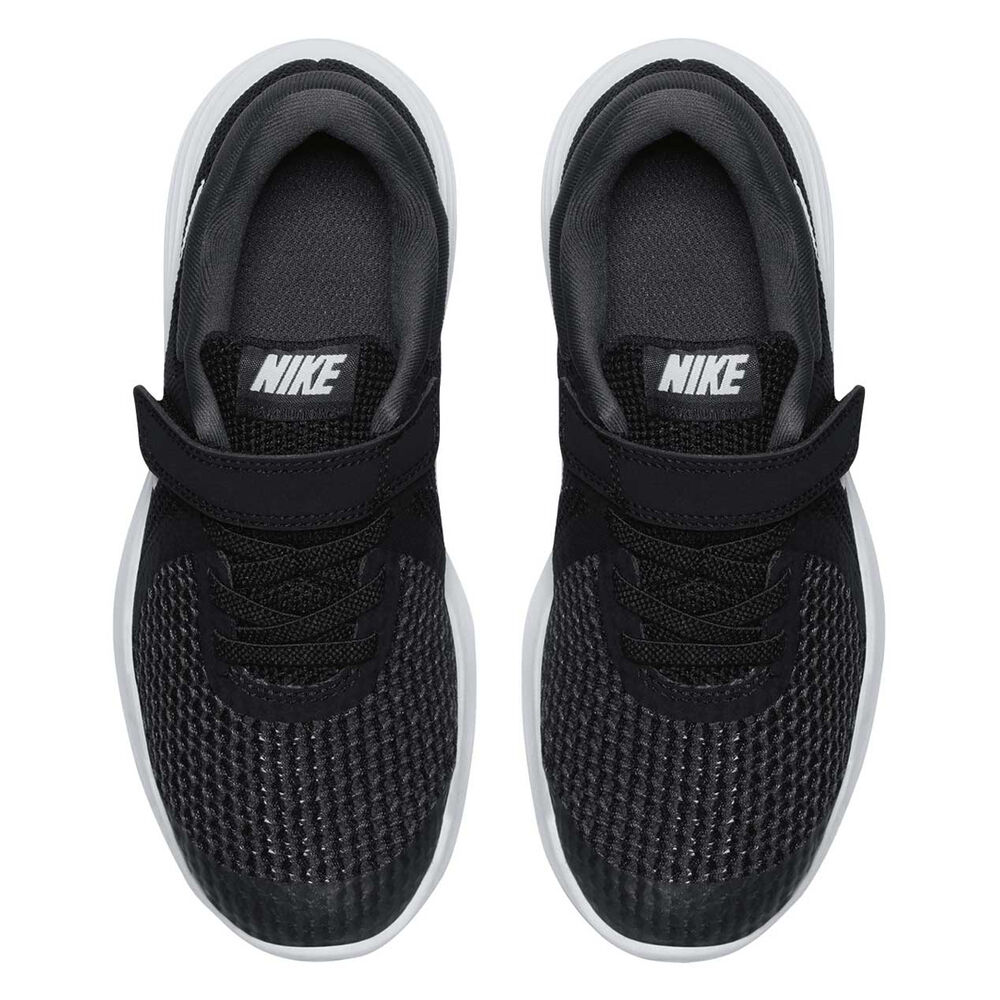 best cheap f9423 f99fe Nike Revolution 4 Junior Boys Running Shoes Black   White US 2, Black    White
