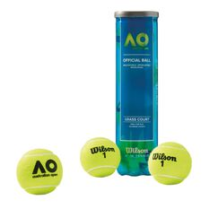Wilson Australian Open Tennis Balls 4 Pack, , rebel_hi-res