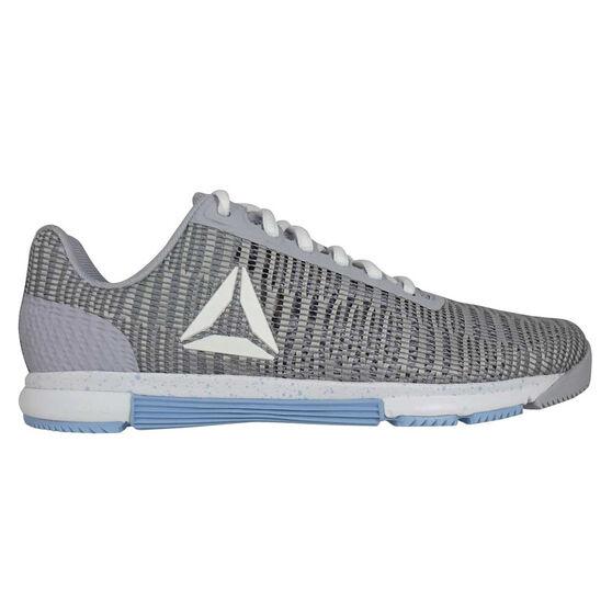 Reebok Speed Trainer Flexweave Womens Training Shoes, Grey / Blue, rebel_hi-res