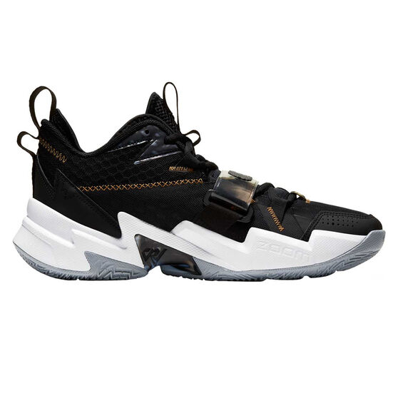Nike Air Jordan Why Not Zer0.3 Mens Basketball Shoes Black / Gold US 13, Black / Gold, rebel_hi-res