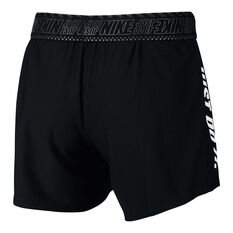 Nike Womens Dri FIT Training Shorts Black XS, Black, rebel_hi-res