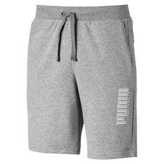 Puma Mens Athletics 9in Shorts Grey S, Grey, rebel_hi-res