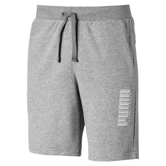 Puma Mens Athletics 9in Shorts Grey L, Grey, rebel_hi-res