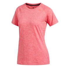 adidas Womens Prime 3 Stripes Training Tee Red XS, Red, rebel_hi-res