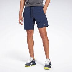 Reebok Mens Workout Ready Woven Shorts Navy XS, Navy, rebel_hi-res