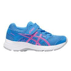 Asics Gel Contend 5 Kids Running Shoes Blue US 1, Blue, rebel_hi-res