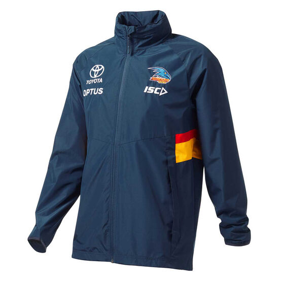 Adelaide Crows 2020 Mens Wet Weather Jacket, Navy, rebel_hi-res