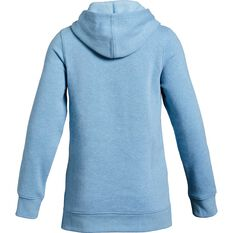 Under Armour Girls Rival Hoodie Blue / White XS, Blue / White, rebel_hi-res
