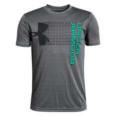 Under Armour Boys Crossfade Tee Grey / Black XS, Grey / Black, rebel_hi-res