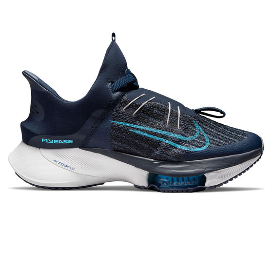 Nike Air Zoom Tempo Next% FlyEase Mens Running Shoes, Navy/Blue, rebel_hi-res