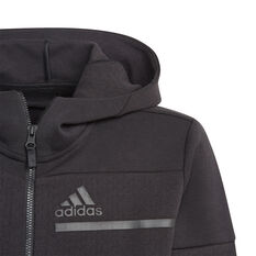 adidas Boys ZNE Full Zip Hoodie, Black, rebel_hi-res