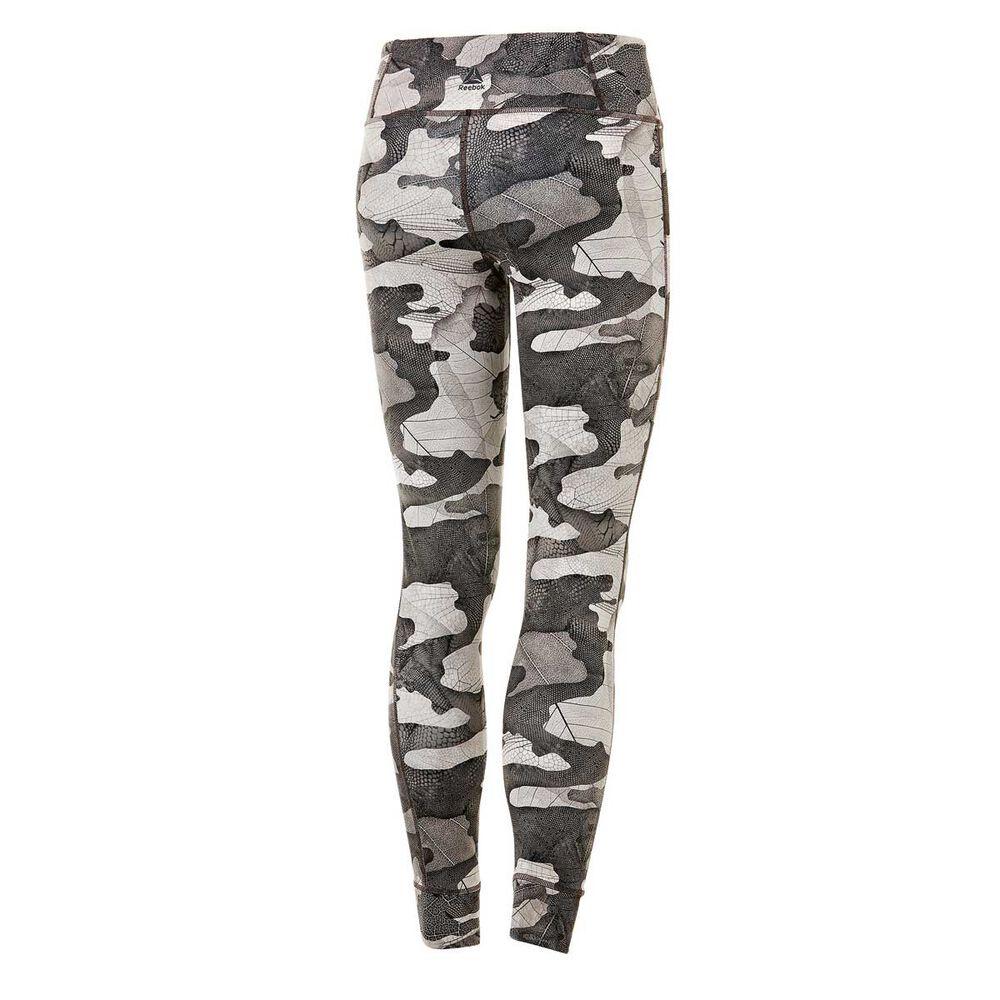 652ae51a51f94 Reebok Womens Bold Camo Leggings Taupe XS, Taupe, rebel_hi-res