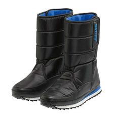 SVNT5 Mens Snowline Moon Boots Black / Blue US 6, Black / Blue, rebel_hi-res
