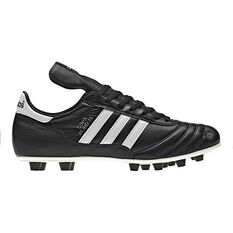 adidas Copa Mundial Mens FG Football Boots Black / White US Mens 7 / Womens 8, Black / White, rebel_hi-res