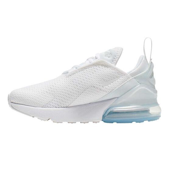 Nike Air Max 270 Kids Casual Shoes White US 13, White, rebel_hi-res