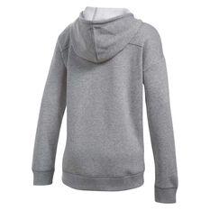 Under Armour Girls Favorite Full Zip Hoodie Grey / White XS, Grey / White, rebel_hi-res