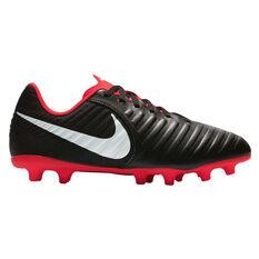 Nike Tiempo Legend VII Club Junior Football Boots Black / White US 10, Black / White, rebel_hi-res
