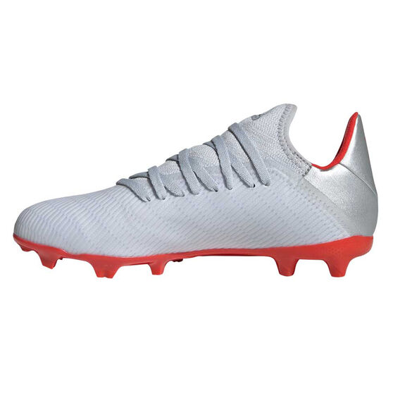adidas X 19.3 Kids Football Boots, Silver / Red, rebel_hi-res