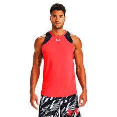 Under Armour Mens Baseline Performance Tank Blue XS, Blue, rebel_hi-res